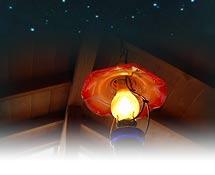 露天風呂から眺める星